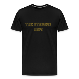 The Student Body Black and Gold Tee - Men's Premium T-Shirt