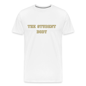 The Student Body Gold and White Tee - Men's Premium T-Shirt