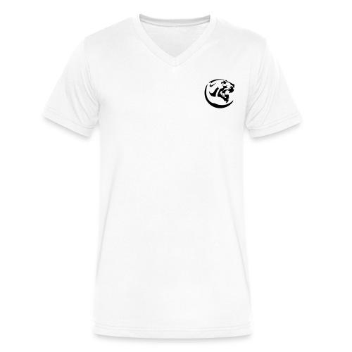 Black Panther White V-neck - Men's V-Neck T-Shirt by Canvas