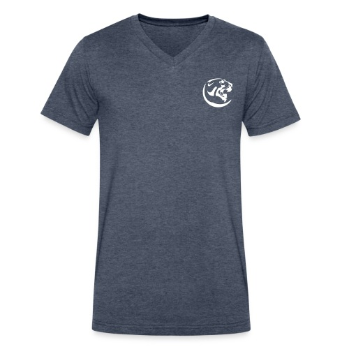 Black Panther Blue V-neck - Men's V-Neck T-Shirt by Canvas