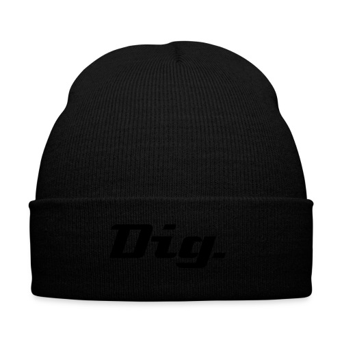 Knit Cap with Cuff Print--Dig - Knit Cap with Cuff Print