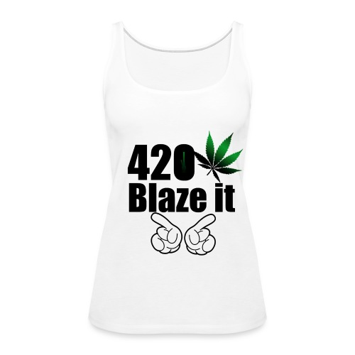 420 Blaze it Tank - Women's Premium Tank Top