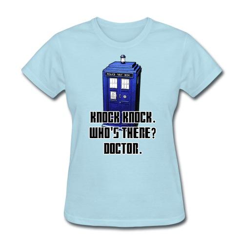 Knock Knock Tardis Tee (Womens) - Women's T-Shirt