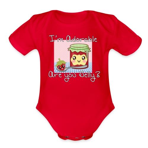 R U Jelly Baby Romper - Organic Short Sleeve Baby Bodysuit