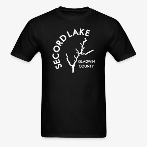 Secord Lake Outline - Men's T-Shirt