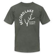 T-Shirts ~ Men's T-Shirt by American Apparel ~ Secord Lake Outline