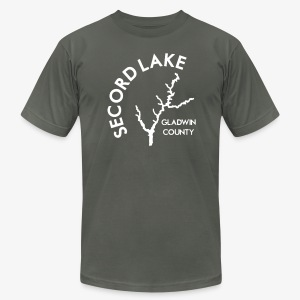 Secord Lake Outline - Men's T-Shirt by American Apparel