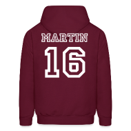 Hoodies ~ Men's Hoodie ~ Martin  15 Front and Back