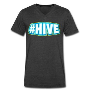 Men's #Hive V-Neck - Men's V-Neck T-Shirt by Canvas