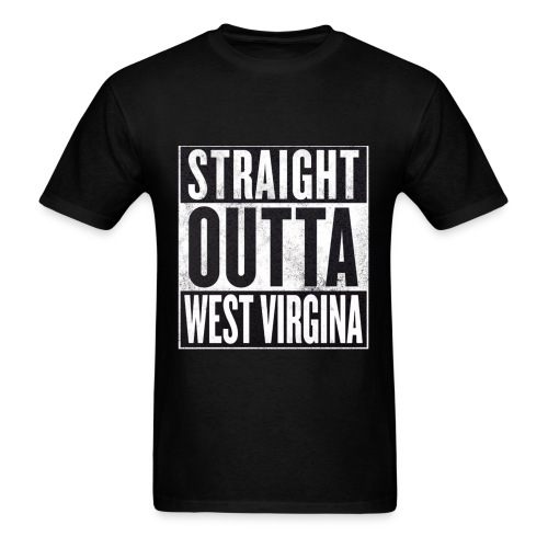 Straight Outta WV - Men's T-Shirt