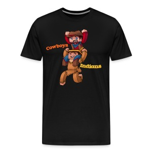 Men's Cowboys and Indians Tee - Men's Premium T-Shirt