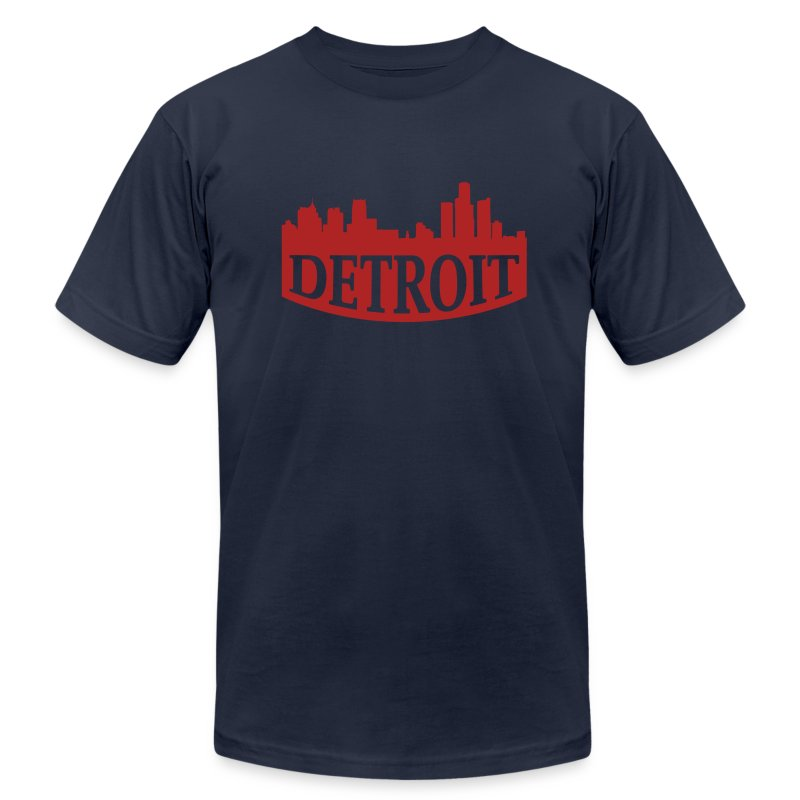 Skyline Detroit Tee - Men's T-Shirt by American Apparel