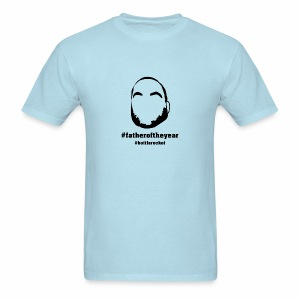 Light Blue #fatheroftheyear - Men's T-Shirt