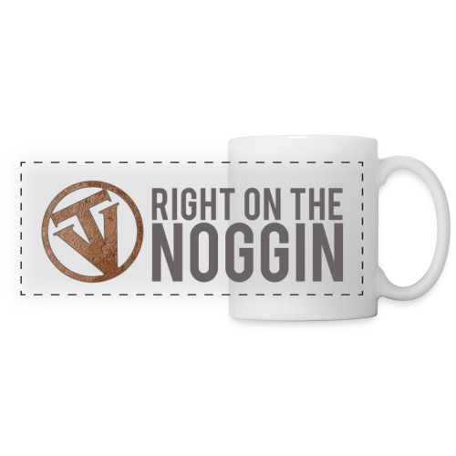 Right on the Noggin Coffee Mug - Panoramic Mug