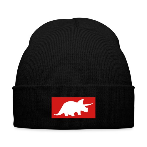 Original Triceratops Knit Cap with Cuff Print - Knit Cap with Cuff Print