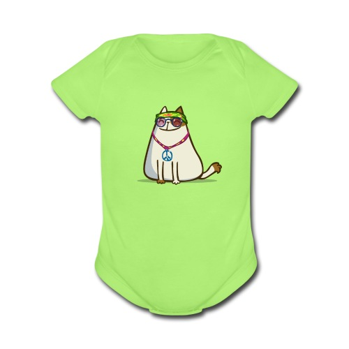 Friday Cat №17 - Organic Short Sleeve Baby Bodysuit
