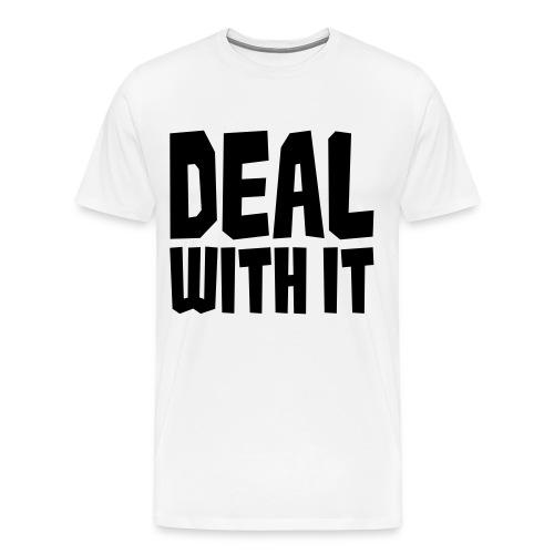 Men's Premium T-Shirt - deal with it t shirt