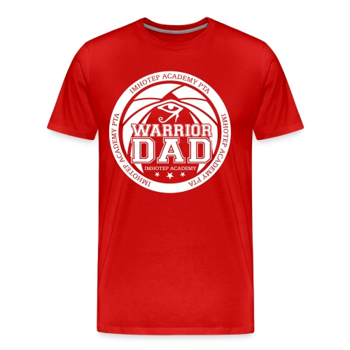 Warrior Dad White Emblem Plus Size - Men's Premium T-Shirt