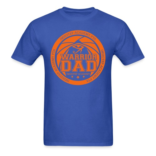 Warrior Dad Orange Emblem - Men's T-Shirt