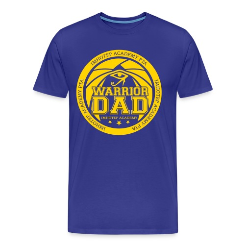 Warrior Dad Yellow Emblem Plus Size - Men's Premium T-Shirt