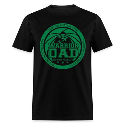 Warrior Dad Green Emblem  - Men's T-Shirt