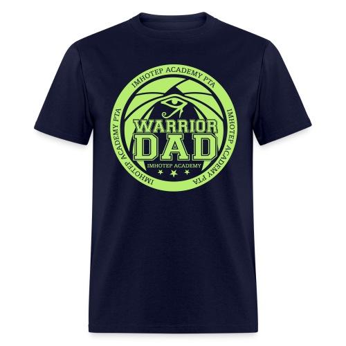 Warrior Dad Lt Green Emblem  - Men's T-Shirt