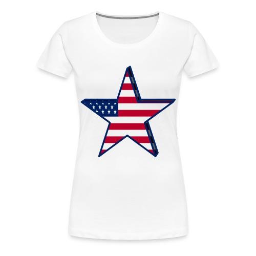 USA patriotic Star  - Women's Premium T-Shirt