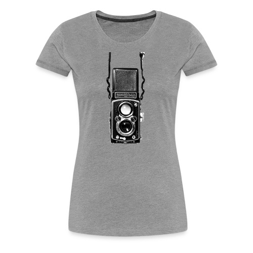 Rolleiflex Twin Lens Vintage Film Camera - Women's Premium T-Shirt