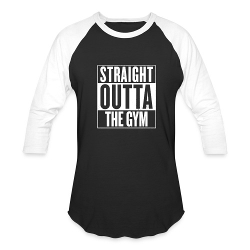 Straight Outta The Gym | Mens 3q - Baseball T-Shirt