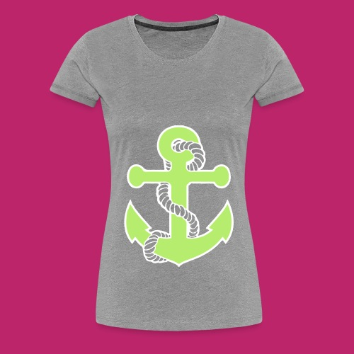 Green Anchor Women's T-Shirt - Women's Premium T-Shirt
