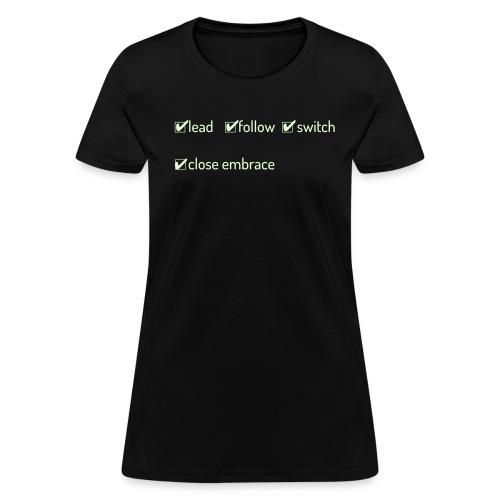 Switch Close Embrace - Women's Glow In The Dark - Women's T-Shirt