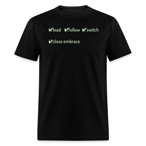 Switch Close Embrace - Men's Glow In The Dark - Men's T-Shirt