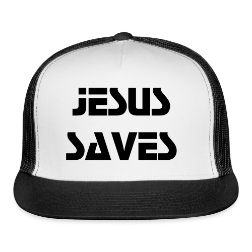 Jesus Saves Cap (Dark Text) - Trucker Cap