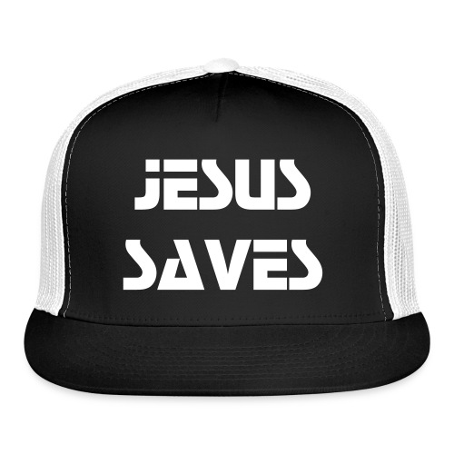 Jesus Saves Cap (Light Text) - Trucker Cap