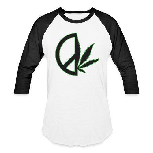 Limited Edition Men's Peace Weed Baseball Tee - Baseball T-Shirt