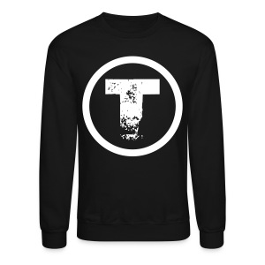 Retro Logo Sweater | White on Black - Crewneck Sweatshirt