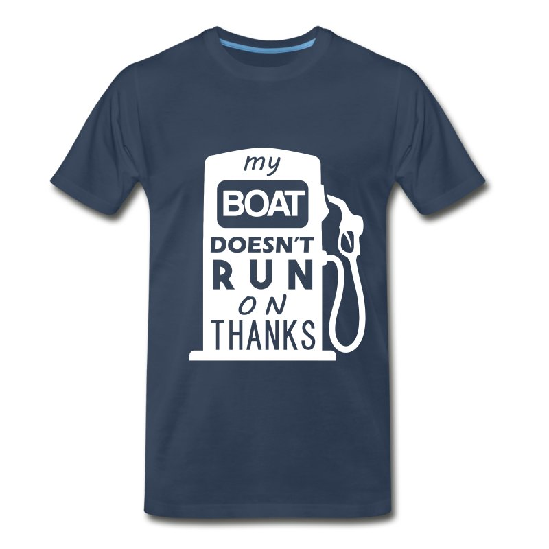 Boat Run On Thanks - Men's Premium T-Shirt