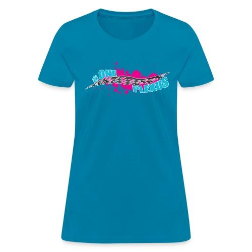One Plexus Womens Blue Text - Women's T-Shirt