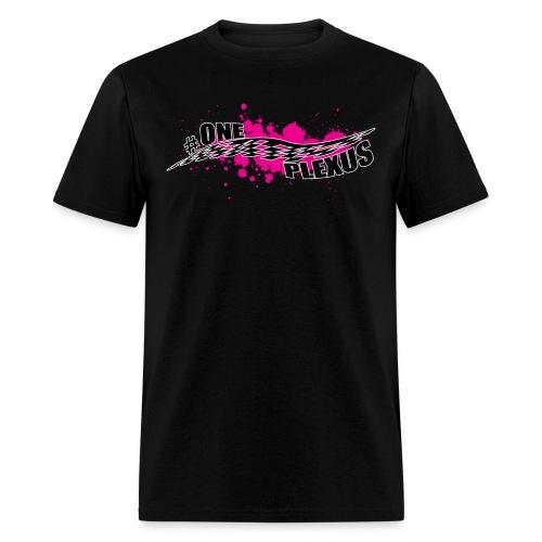 One Plexus Mens Black Text - Men's T-Shirt