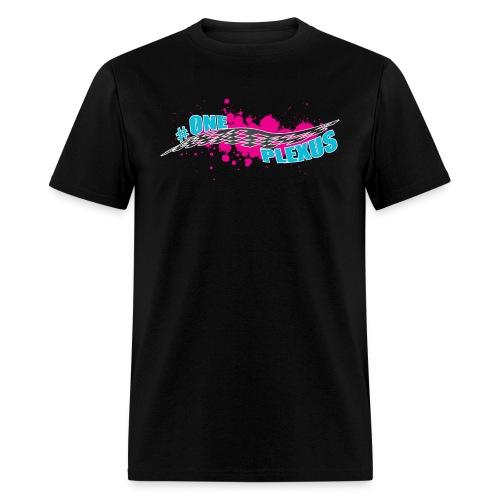 One Plexus Mens Blue Text - Men's T-Shirt