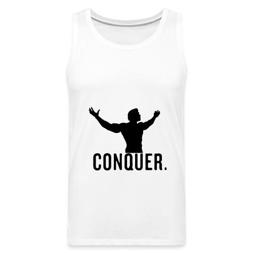 Conquer Tank Top Mens (White) - Men's Premium Tank