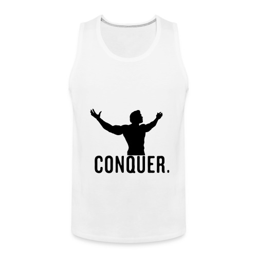 Conquer Tank Top Mens (White) - Men's Premium Tank