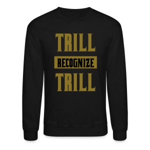Trill Recognize Trill Sweater Gold  - Crewneck Sweatshirt