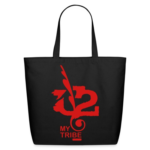 U+2=MY TRIBE - front print - one size - Eco-Friendly Cotton Tote