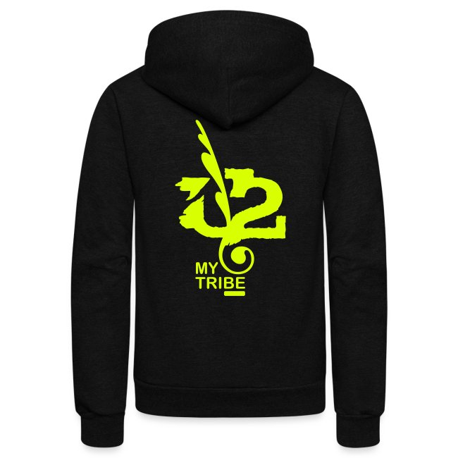 U+2=MY TRIBE - back+front neon - xs/xxl - multi colors