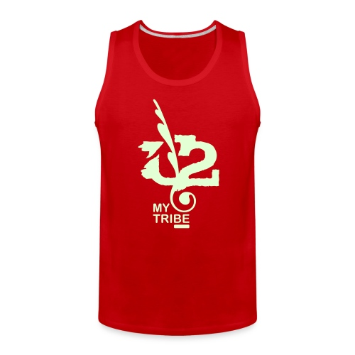 U+2=MY TRIBE - front print glow - s/5xl - multi colors - Men's Premium Tank