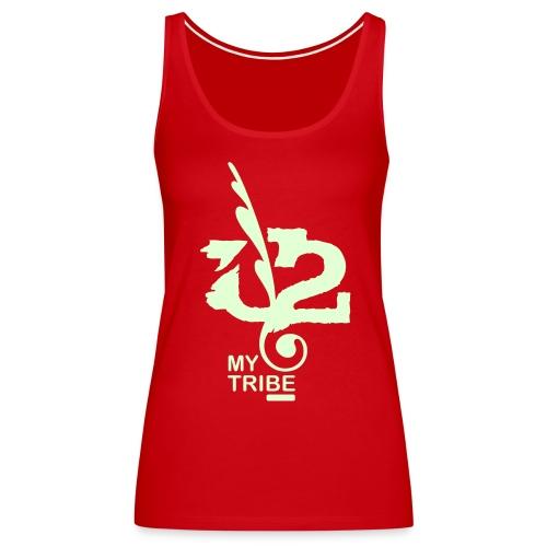 U+2=MY TRIBE - front print glow - s/3xl - multi colors - Women's Premium Tank Top