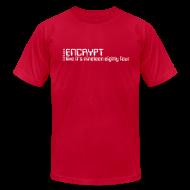 T-Shirts ~ Men's T-Shirt by American Apparel ~ Encrypt like it's 1984
