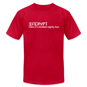 Encrypt like it's 1984 - Men's T-Shirt by American Apparel