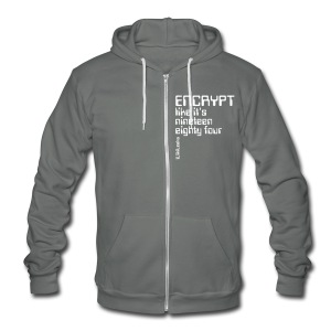 Encrypt like it's 1984 - Unisex Fleece Zip Hoodie by American Apparel